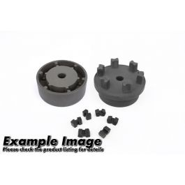 NPX Pilot Bored Coupling Hub size 125 Part 1 with inserts fitted