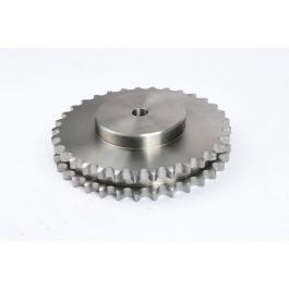 Duplex Pilot Bored Steel Sprocket - BS 20B x 033