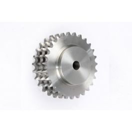 Triplex Pilot Bored Steel Sprocket - BS 24B x 027