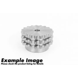 Triplex Pilot Bored Steel Sprocket ASA 50 x 45 - hardened teeth