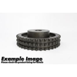 Triplex Pilot Bored Steel Sprocket ASA 100 x 80 - hardened teeth