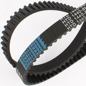 CURVED TOOTH TIMING BELTS